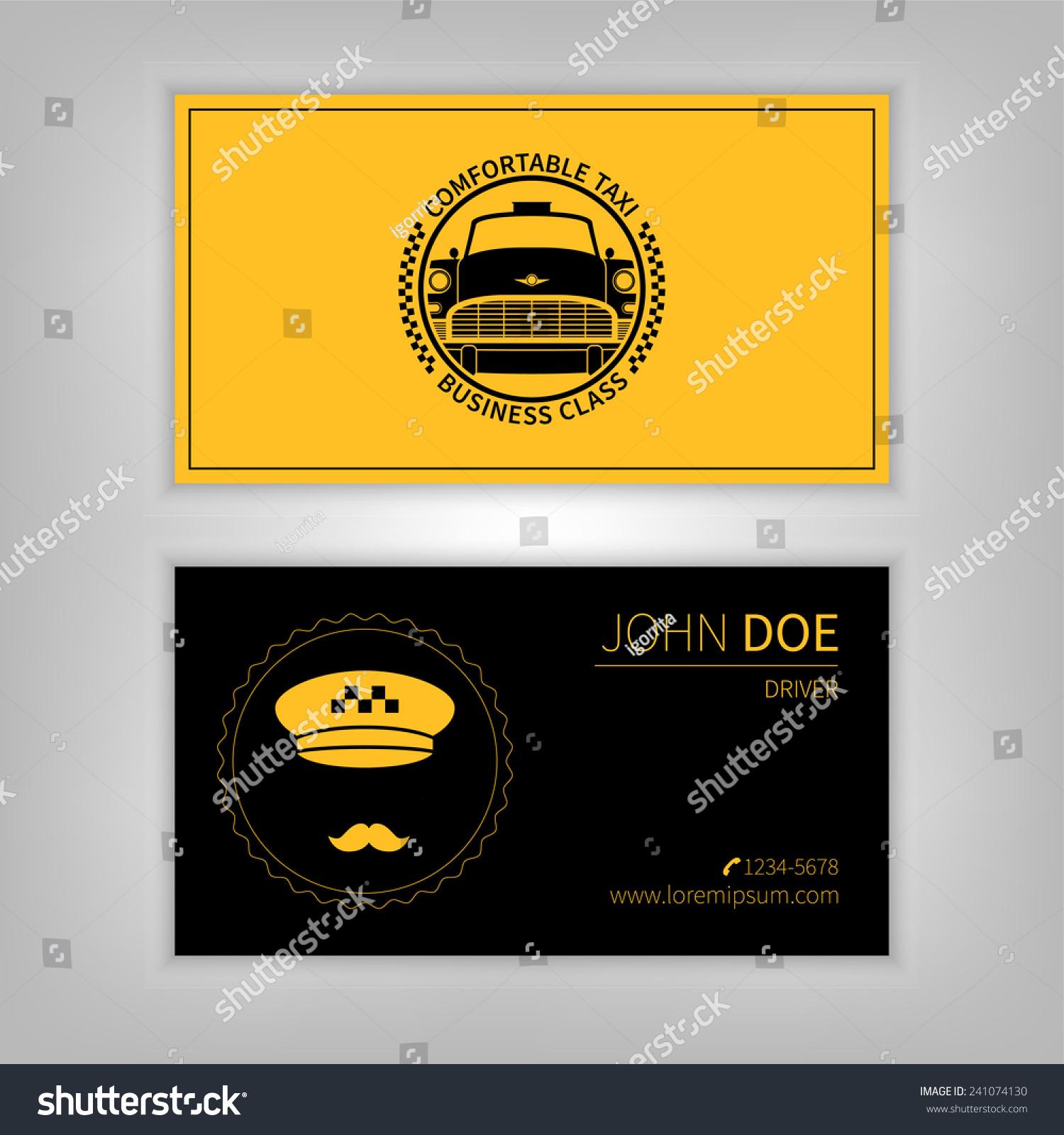 Taxi Business Card Design Template Stock Vector 241074130 - Shutterstock