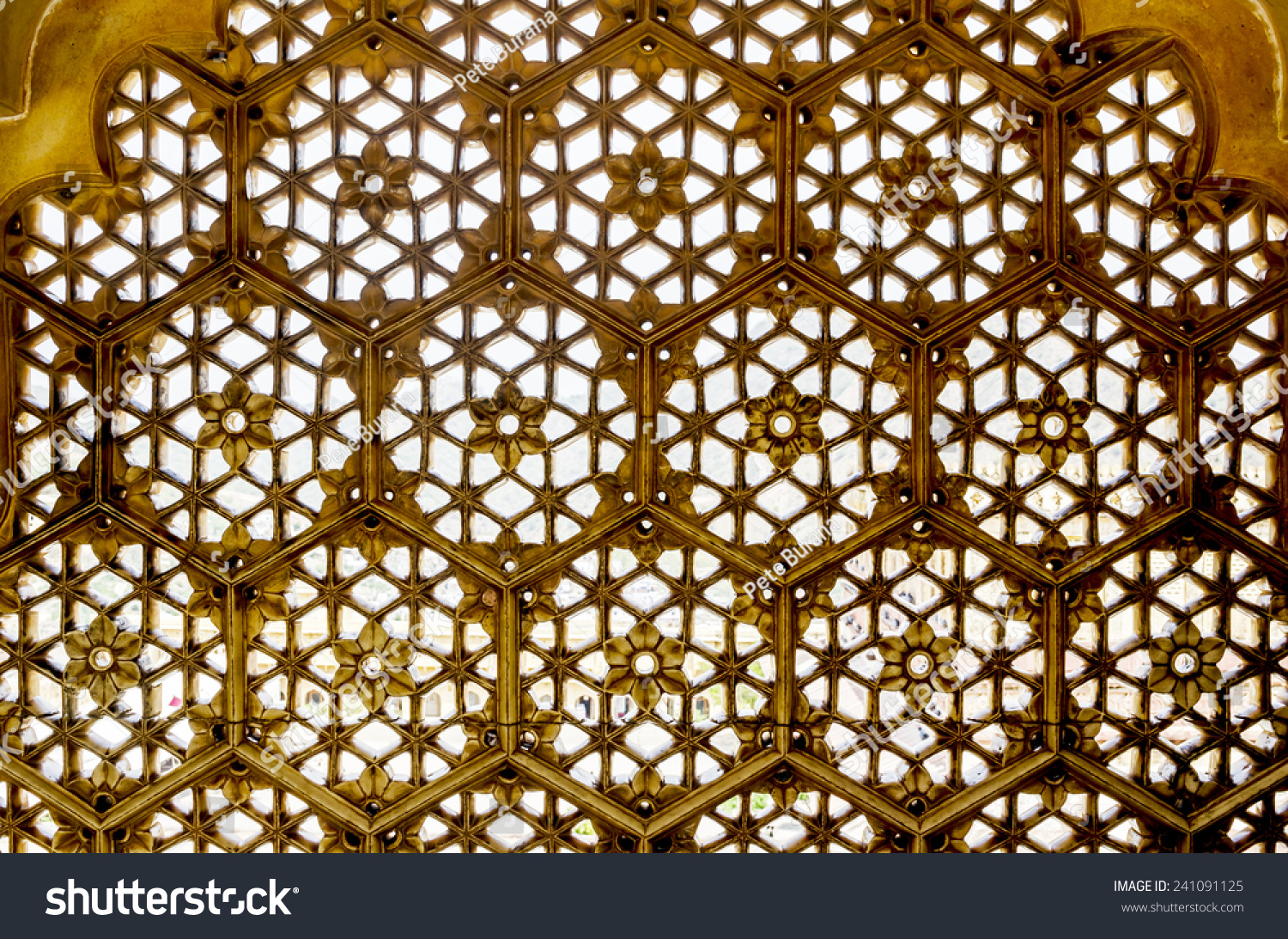 marble lattice window carved abstract design stock photo edit now