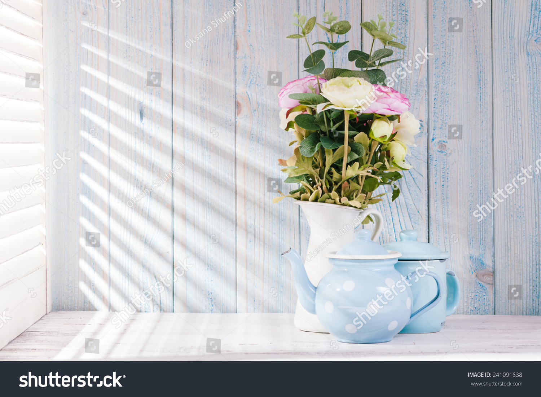 Morning Still Life On Shabby Chic Stock Photo 241091638 - Shutterstock