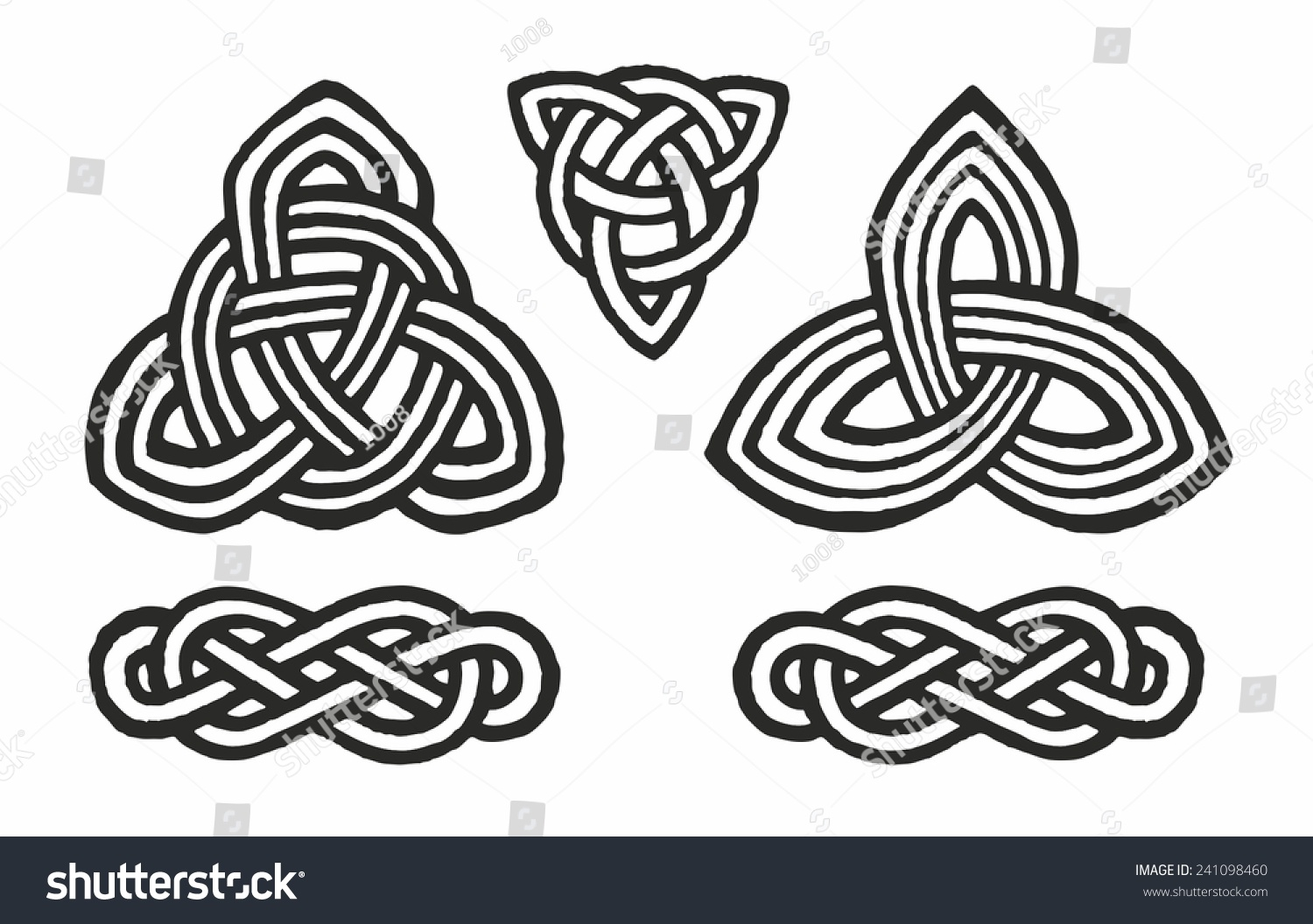 medieval celtic knot tattoo ornament stock vector 241098460 shutterstock. Black Bedroom Furniture Sets. Home Design Ideas
