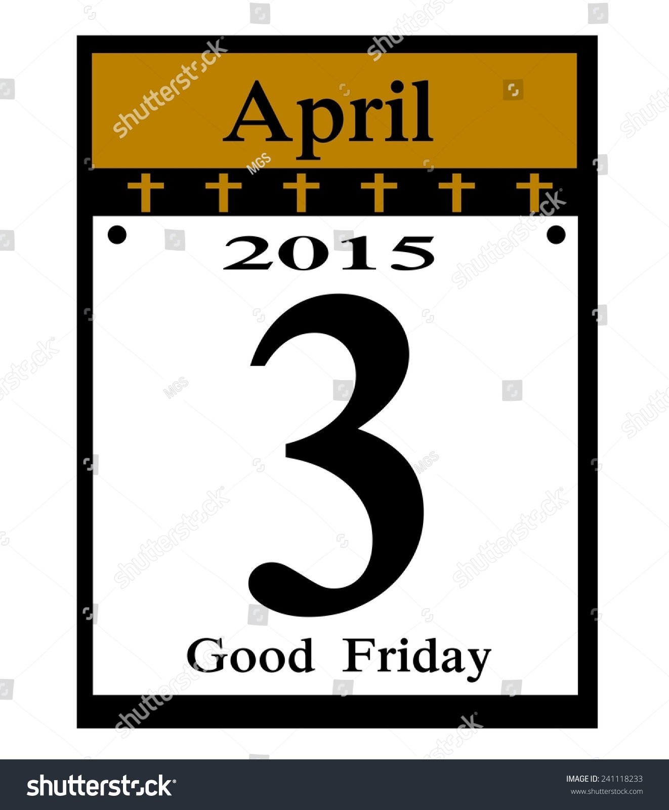 Calendar Good Friday : Good friday calendar date icon stock photo