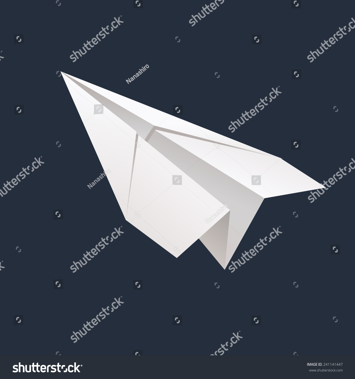 Origami Paper Airplane Vector Stock Vector 241141447 ...