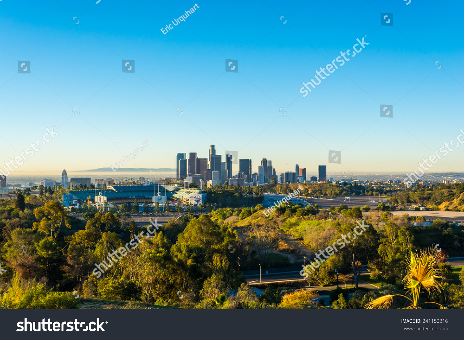 View dodger stadium downtown los angeles stock photo 241152316 view of dodger stadium and downtown los angeles from elysian park buycottarizona Image collections