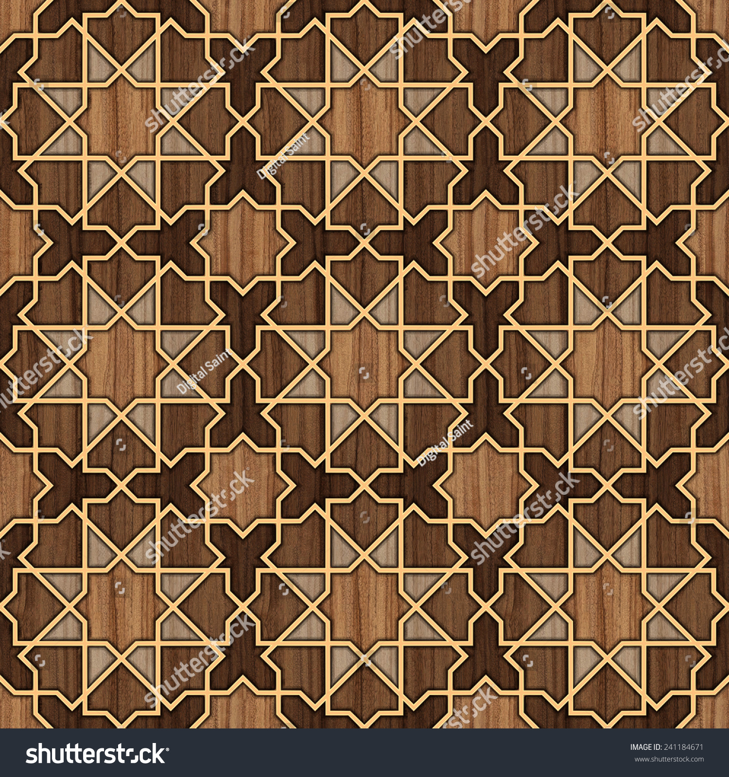 Arabesque tile floor