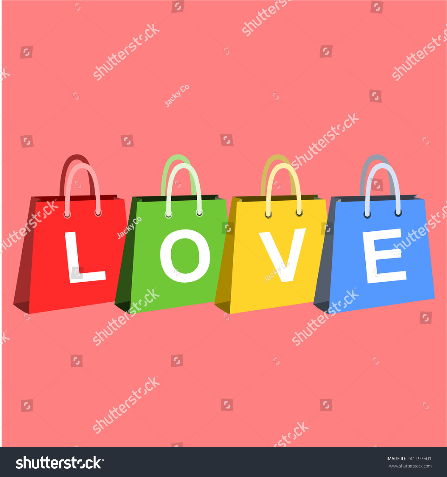 Valentines day sales shopping posters shopping stock vector valentines day sales or shopping posters with shopping bags and different symbols of love buycottarizona Images