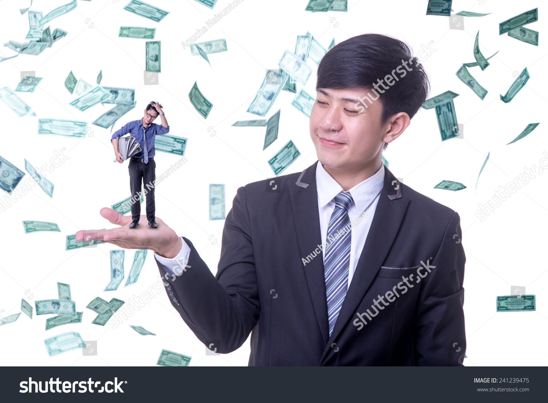 Rich Man Boss Looking Employee Stock Photo 241239475 border=