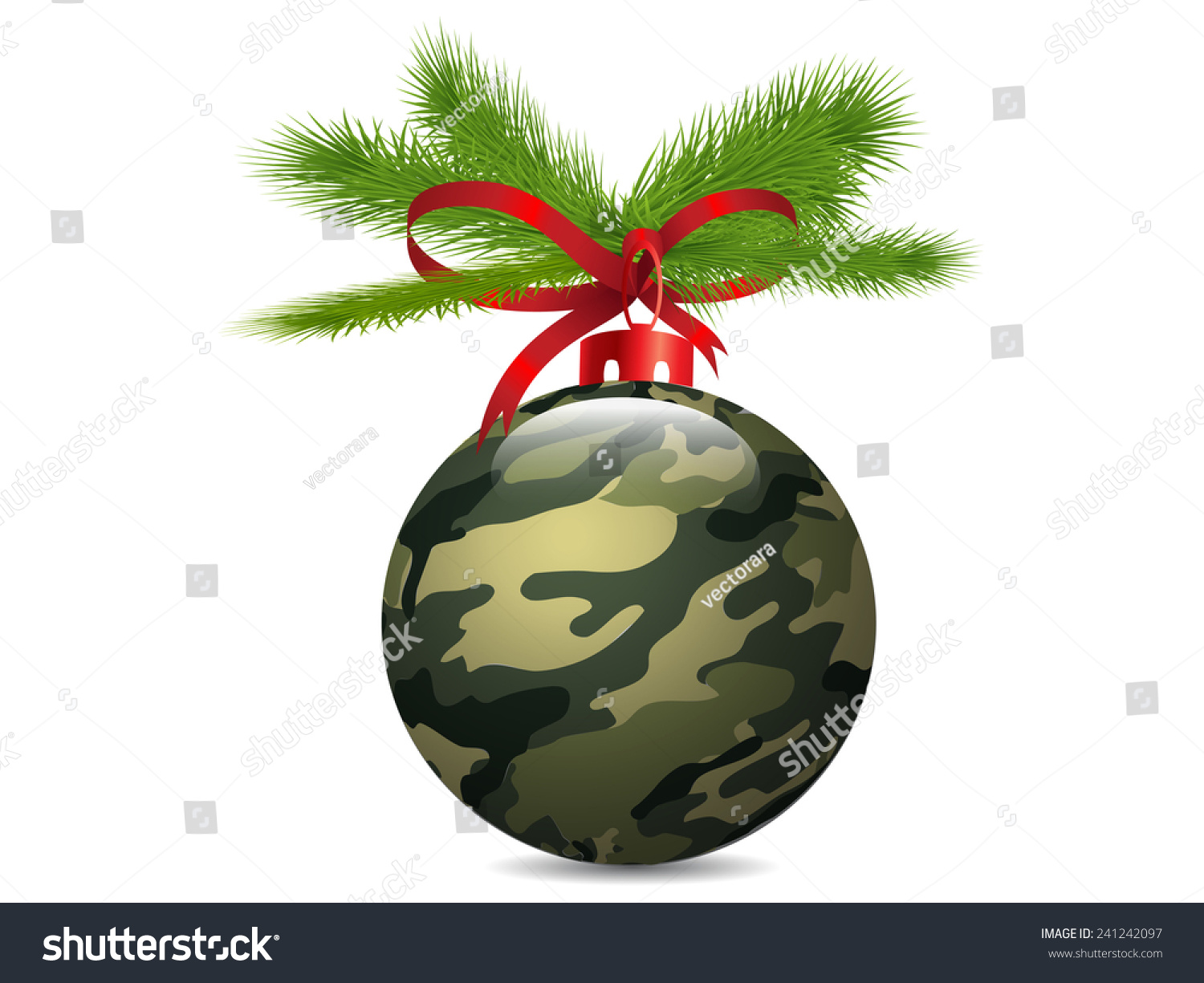 Christmas Camouflage Ball Vector Stock Vector (Royalty Free ...