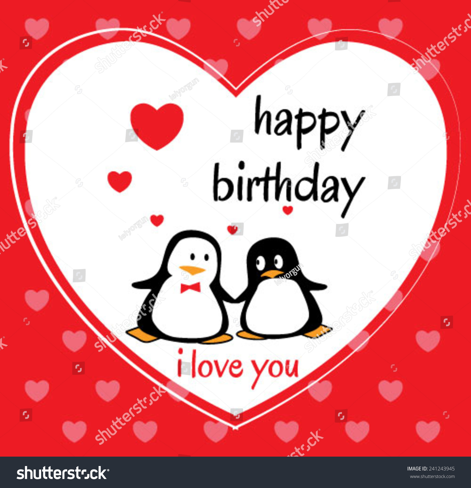penguin birthday cards stock vector   shutterstock, Birthday card