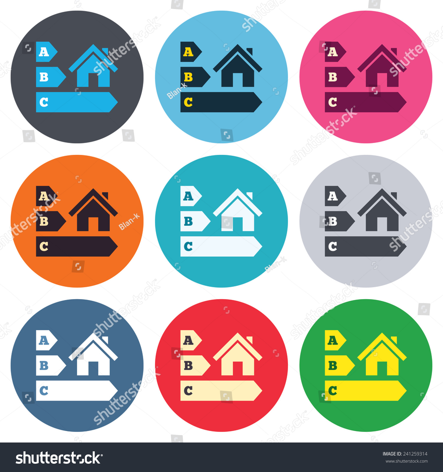 Energy Efficiency Sign Icon House Building Stock Vector Hd Royalty