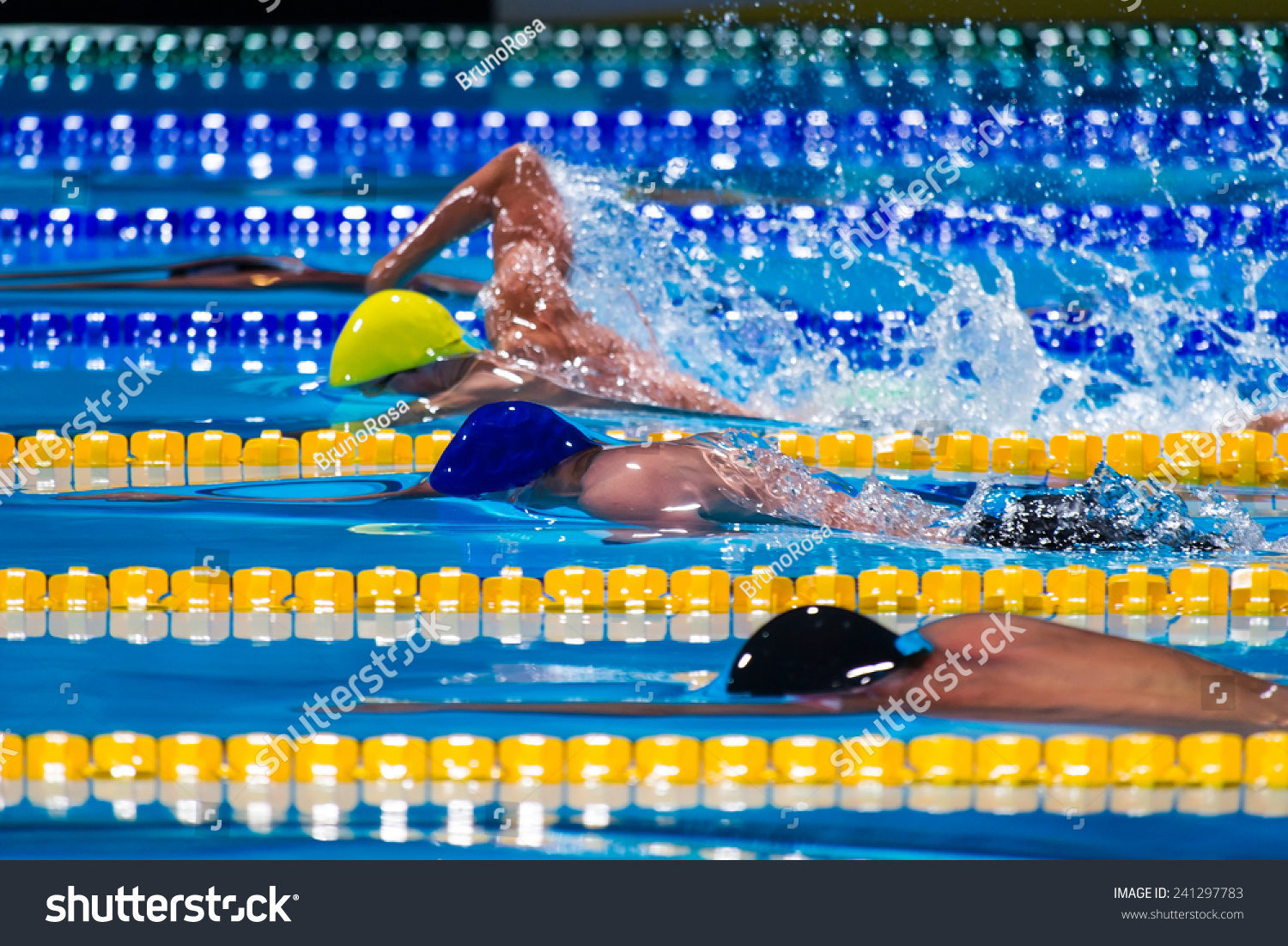 Free Style Men Competition In Swimming Pool Stock Photo 241297783 Shutterstock