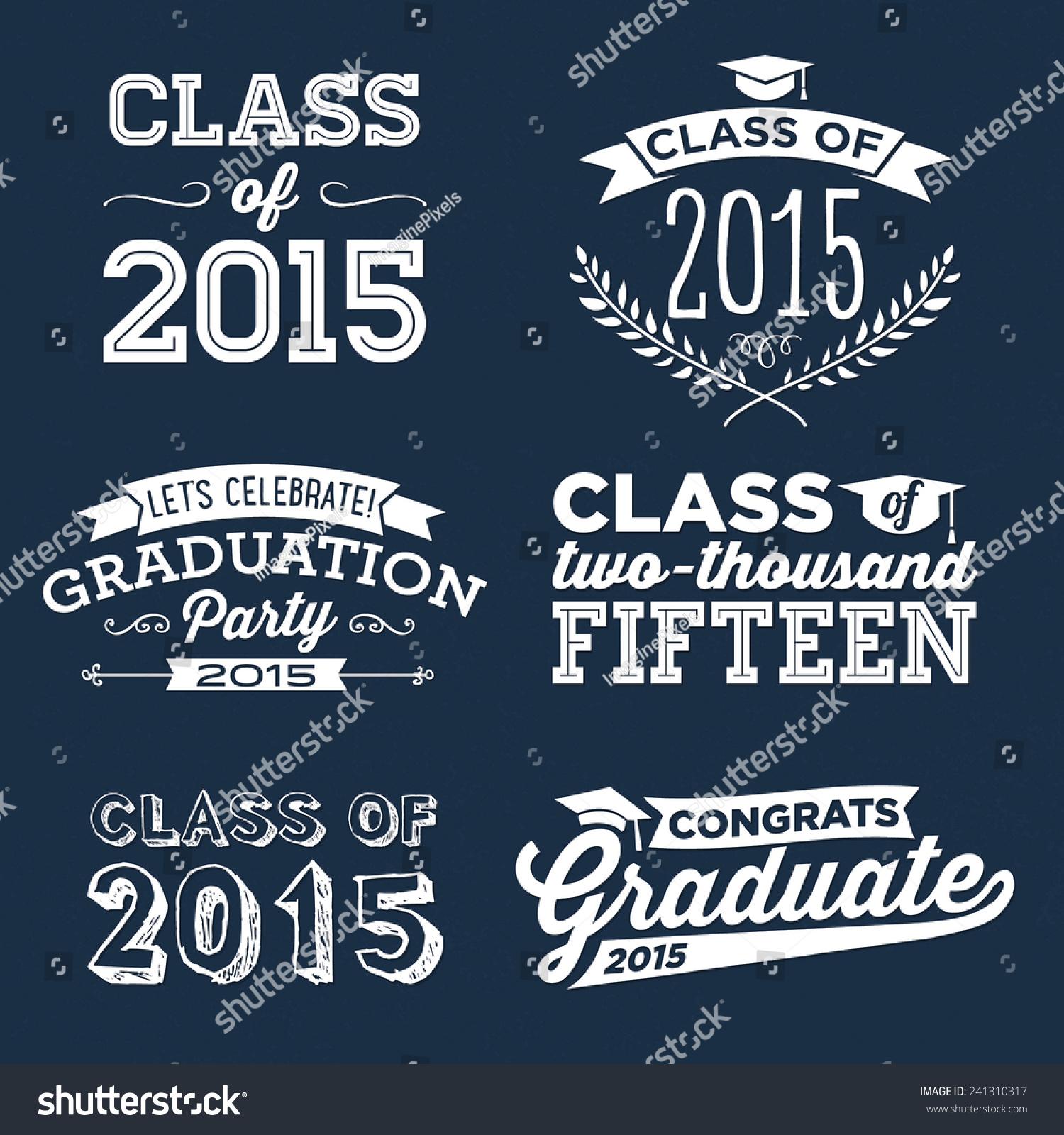 vetor stock de graduation vector set lets celebrate class livre de