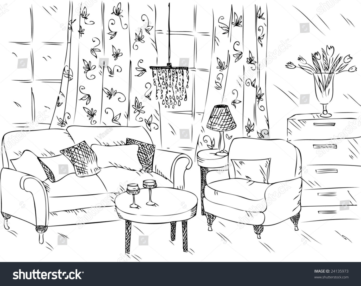 Living Room Living Room Drawing cartoon drawing of living room stock vector illustration 24135973 preview save to a lightbox