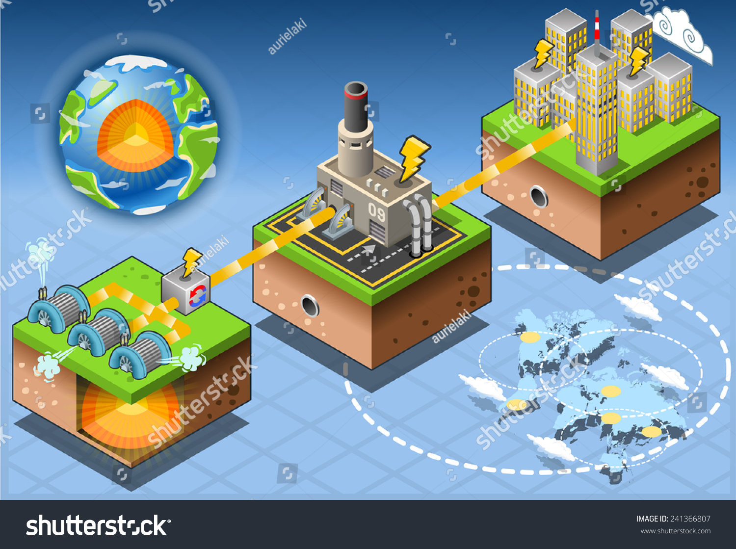 Geothermal earth energy heat pump diagram stock vector 241366807 geothermal earth energy heat pump diagram 3d isometric infographic of geothermal energy chain harvesting and pooptronica