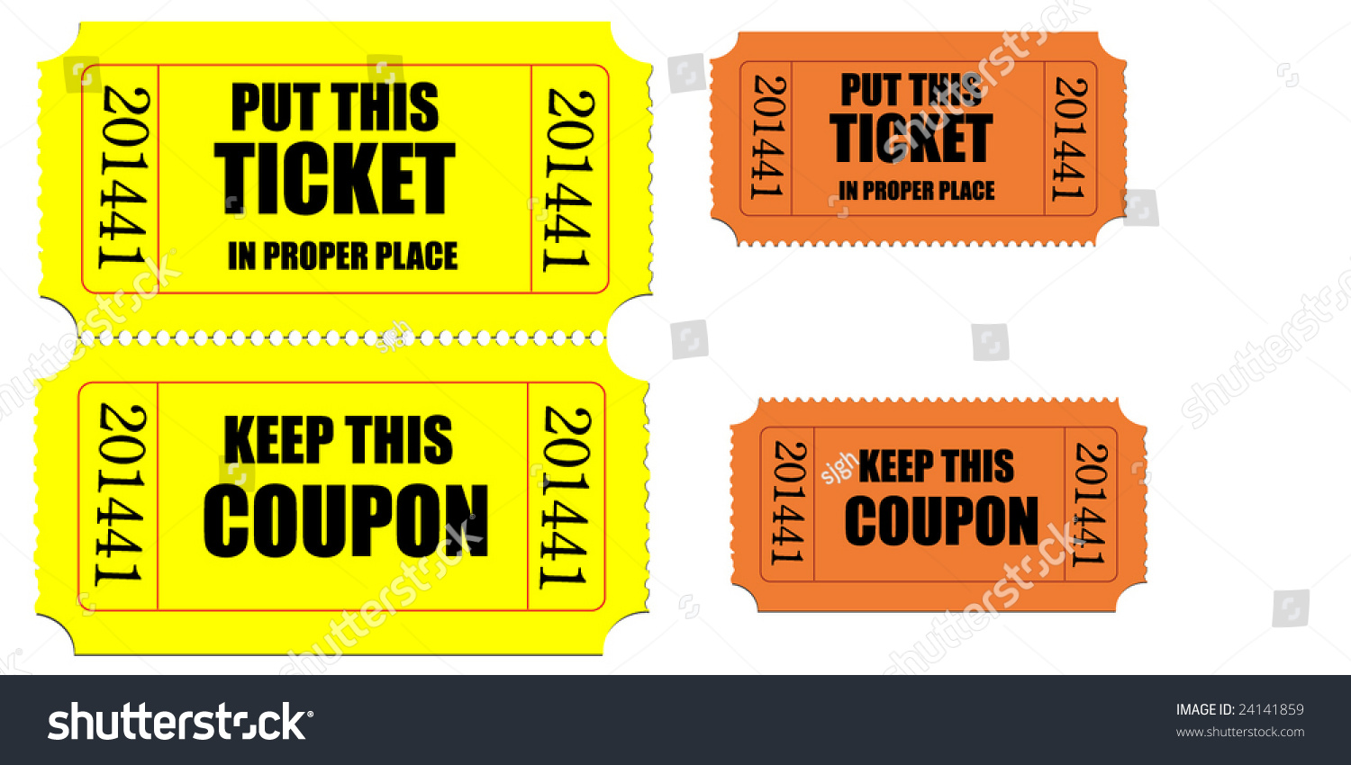 movie raffle tickets receipt vector stock vector  movie or raffle tickets receipt vector