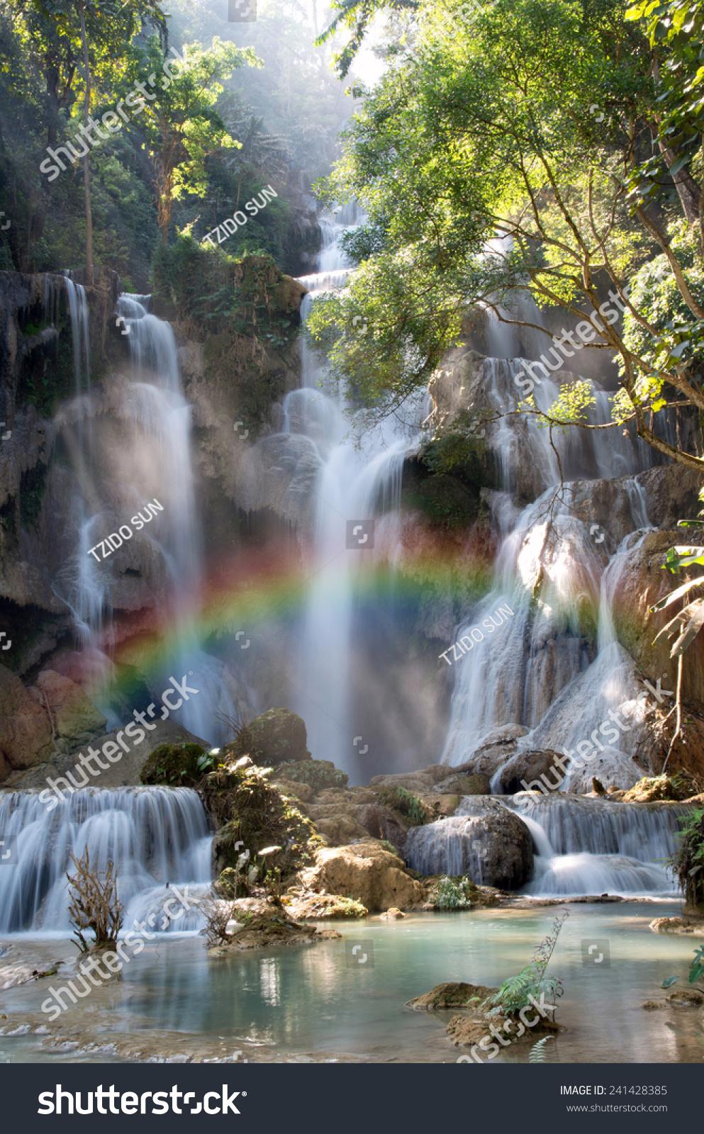 beautiful soft waterfall in - photo #42