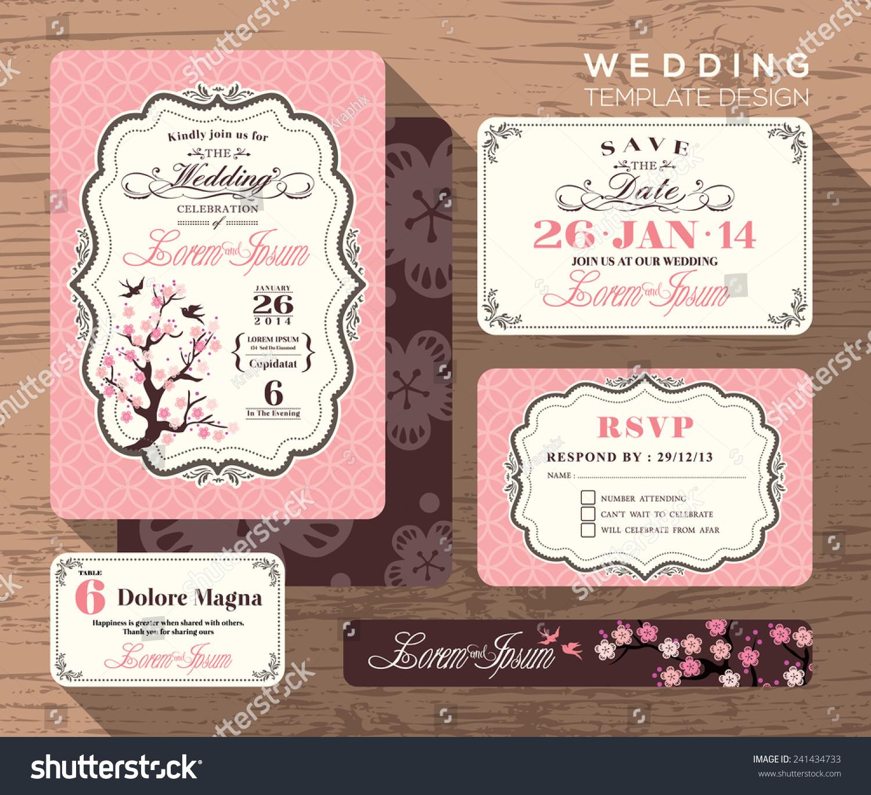 invitation card design template