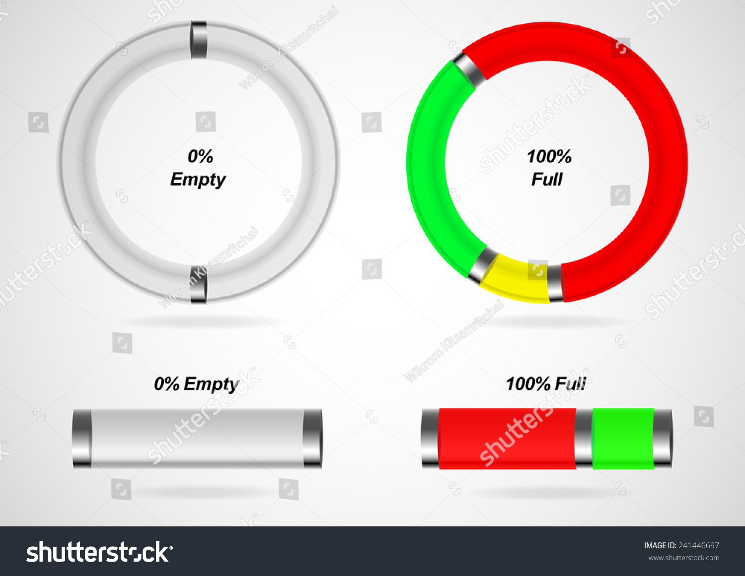 Pie chart bar chart liquid container stock vector 241446697 pie chart and bar chart in liquid container style empty and full condition eps10 nvjuhfo Gallery