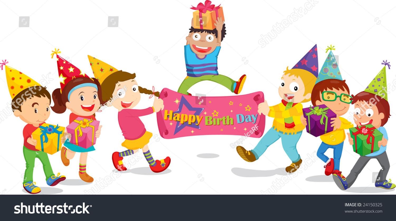 Royalty Free Stock Illustration Of Illustration Girls Boys Birthday