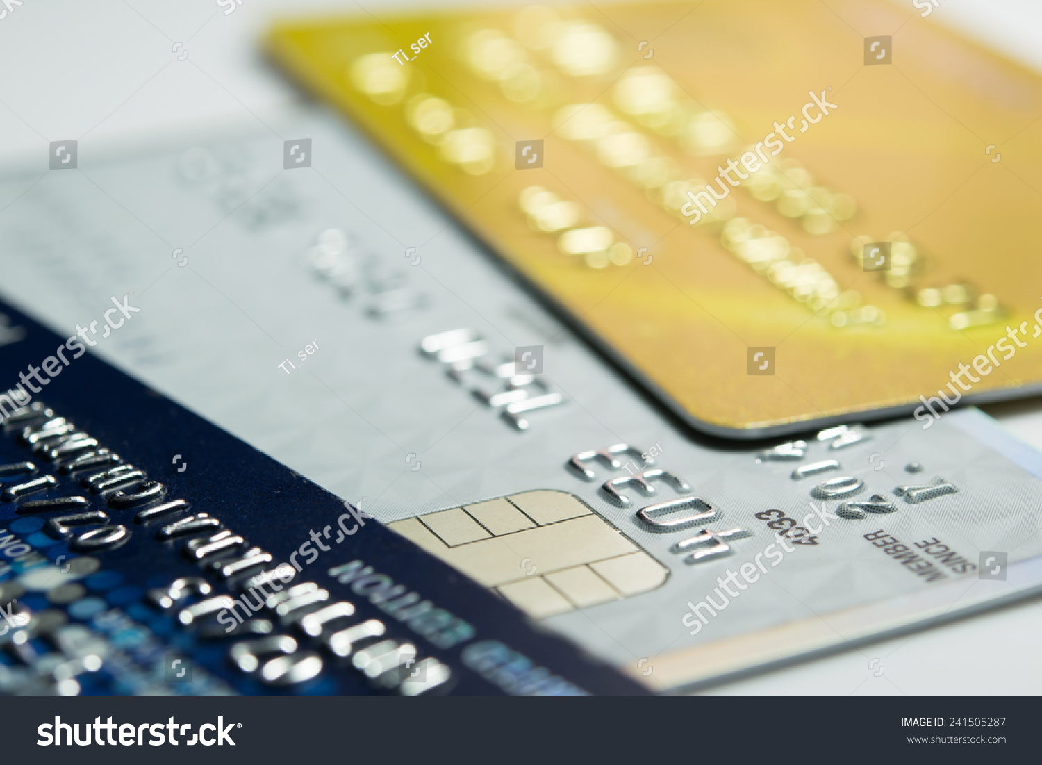 close up credit card for shopping online stock photo 241505287 shutterstock. Black Bedroom Furniture Sets. Home Design Ideas