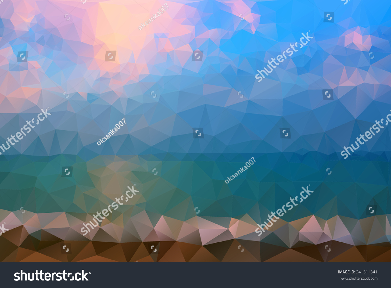 Website soft colors - Triangle Background Vector Polygon Art Soft Colored Abstract