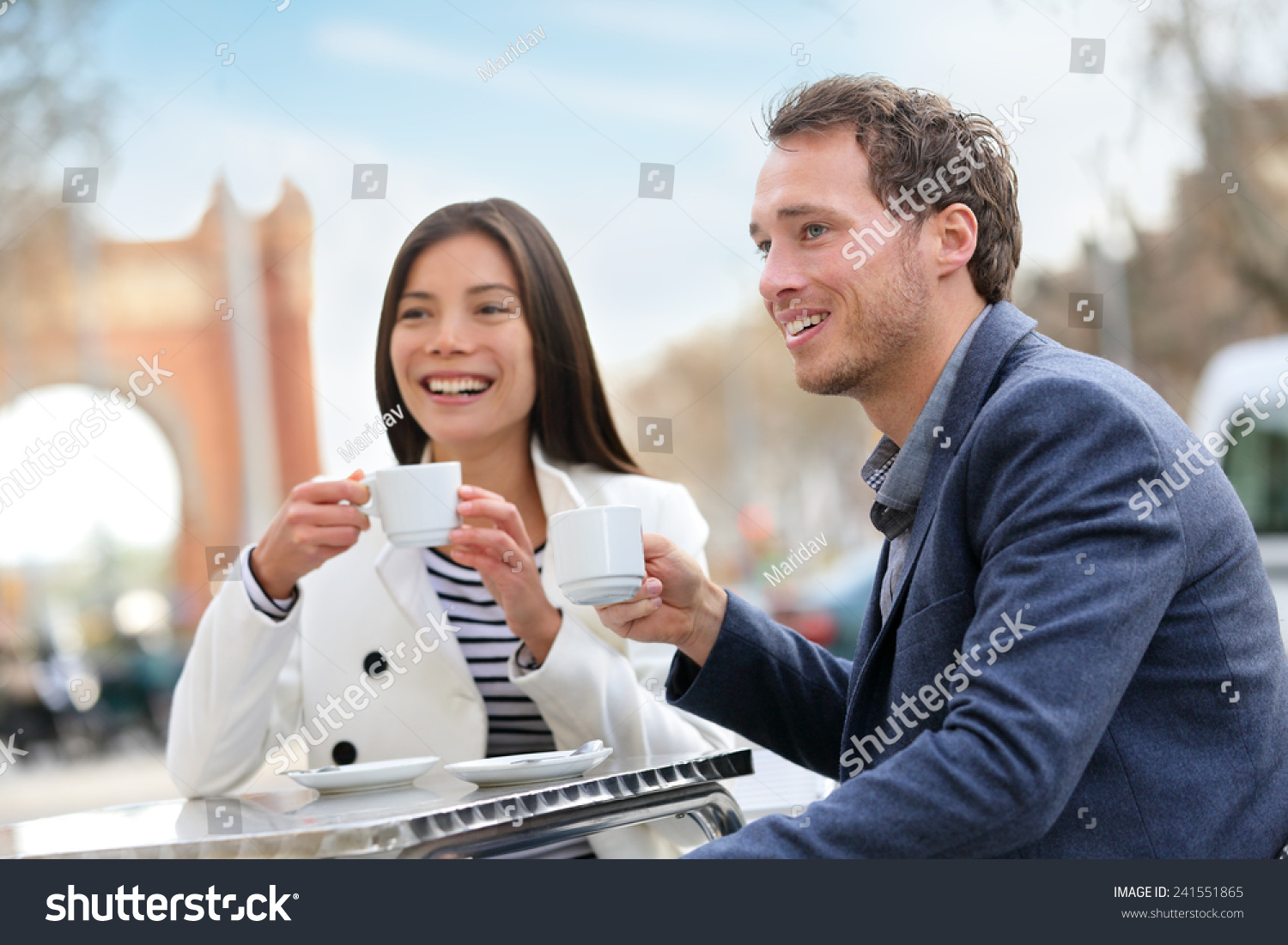 Young Professionals Drinking Coffee