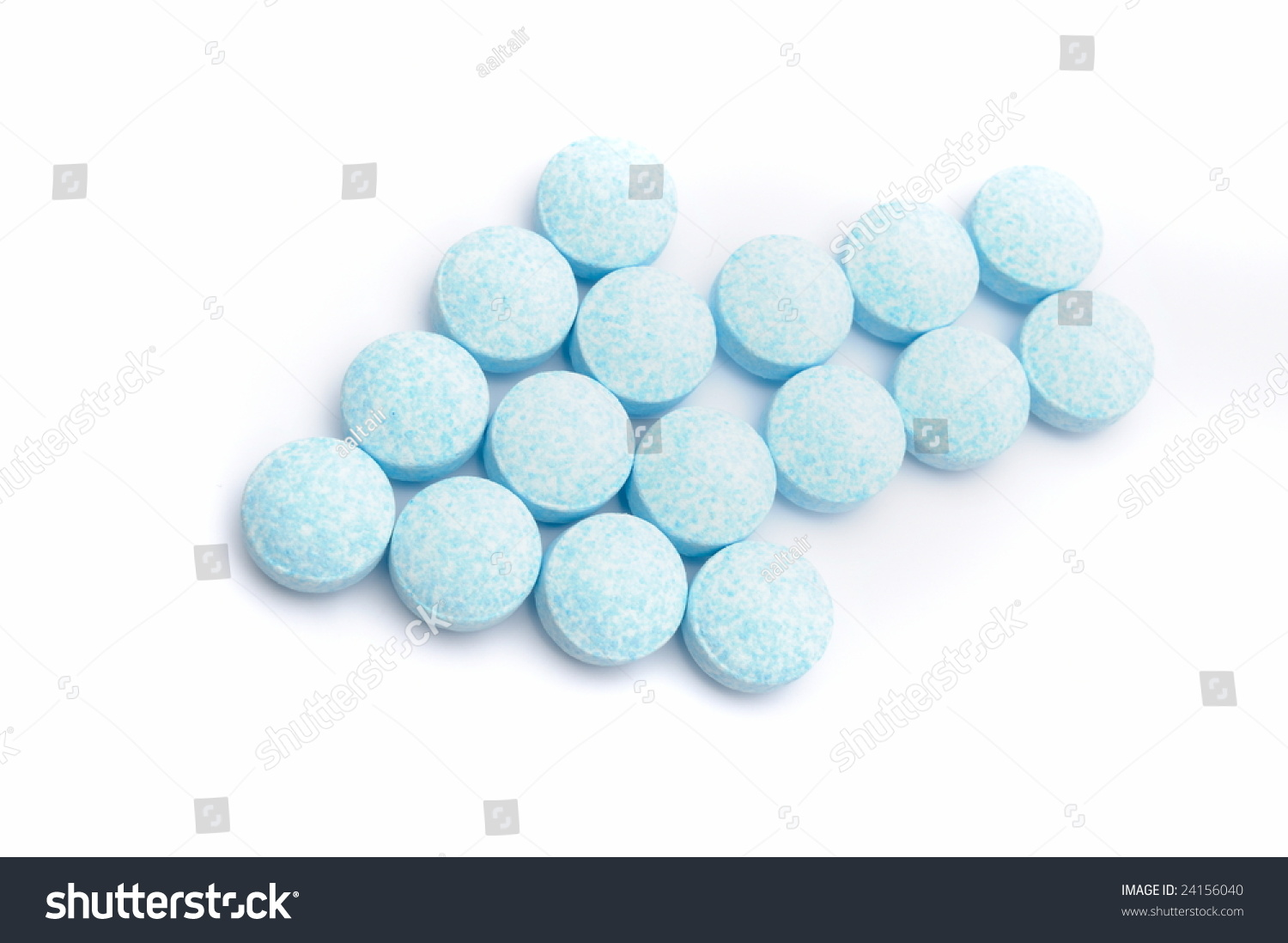 blue pills against white background stock photo 24156040