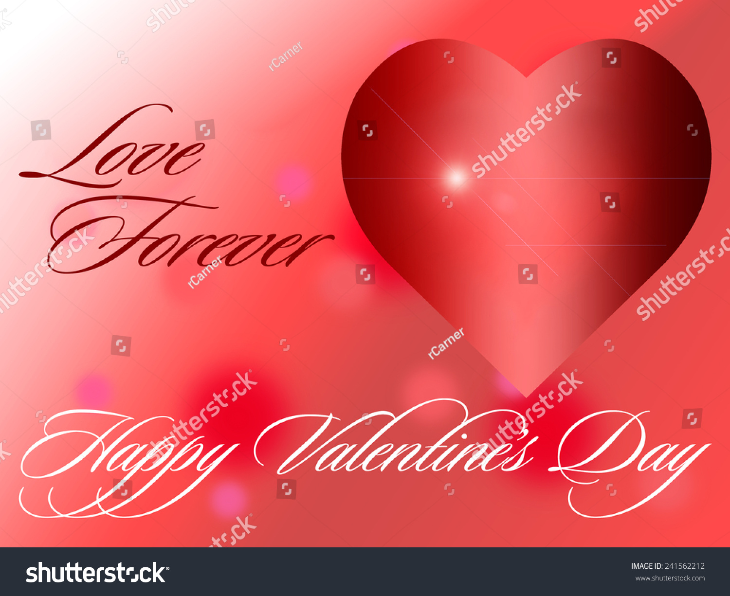 Valentines Day Card Saying Love Forever Stock Illustration 241562212