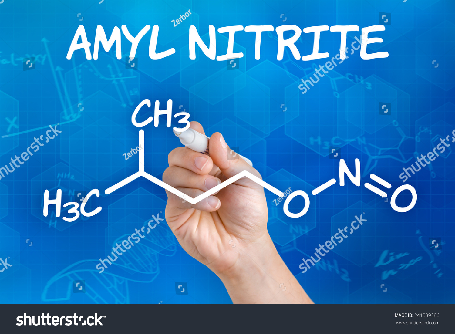 Hand pen drawing chemical formula amyl stock photo 241589386 hand with pen drawing the chemical formula of amyl nitrite buycottarizona