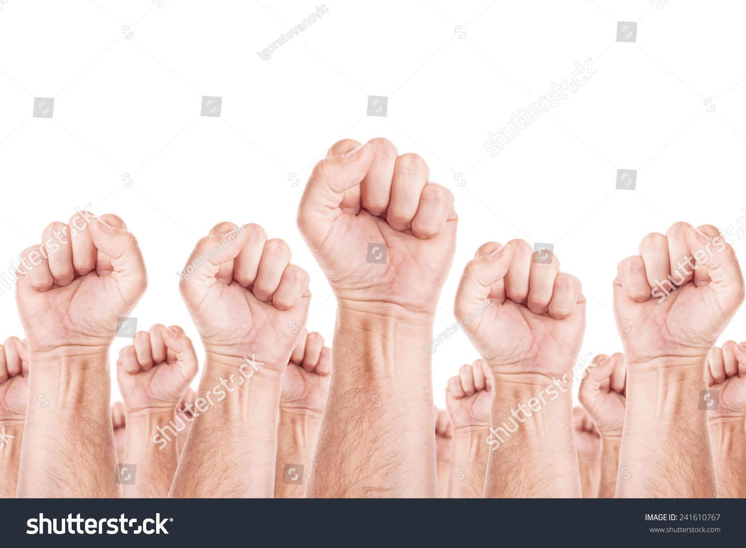 Workers unite fist