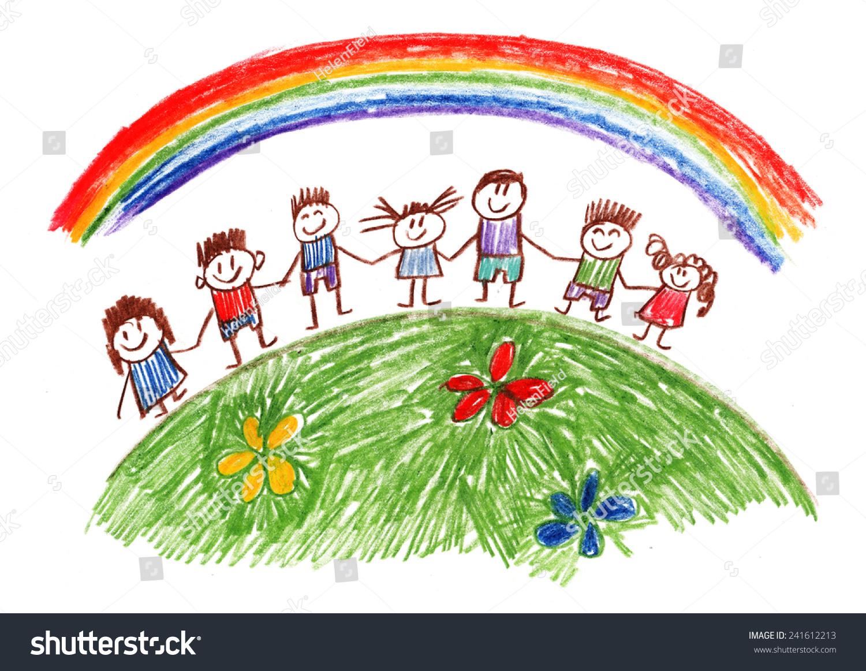 Family Kids Drawing Stock Illustration 241612213 - Shutterstock