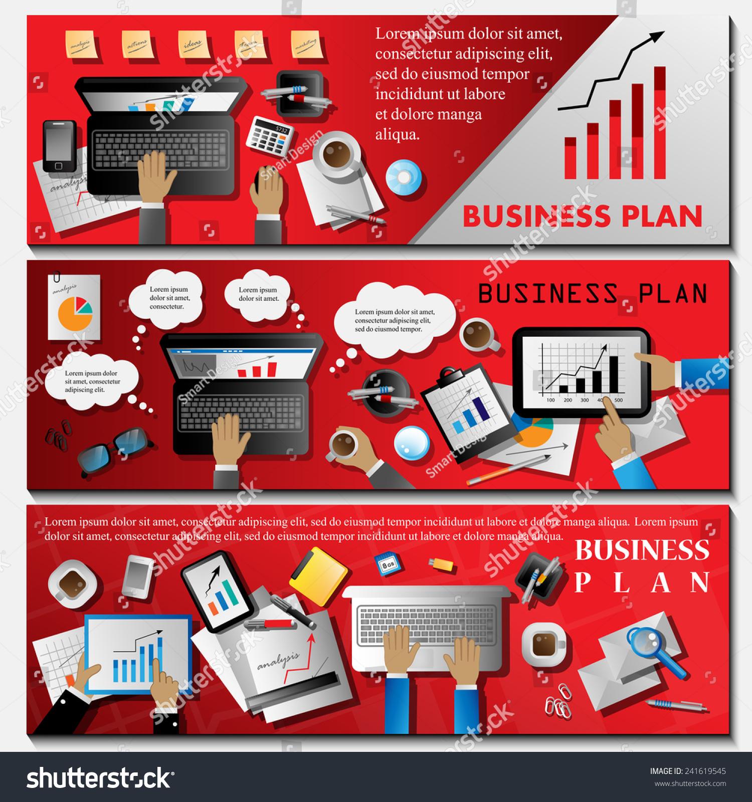 Business Plan Flyer Template Vector Illustration Stock Vector 241619545 Shutterstock