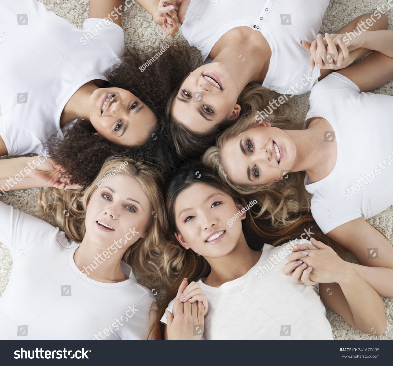 nude multi ethnic women