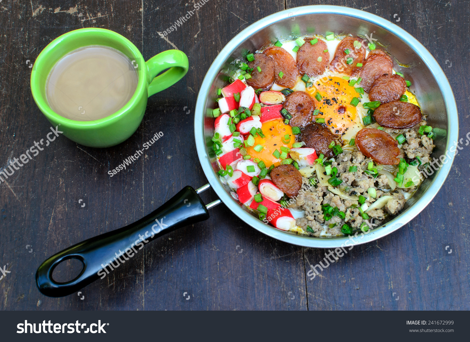 Asain Breakfastegg Pan Vietnamese Style Fried Stock Photo ...