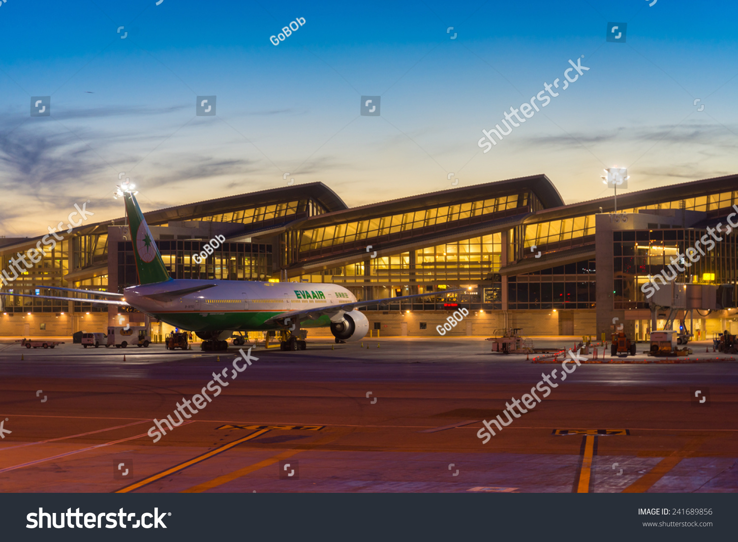 California october 30 eva air airplane parking at lax for Lax parking closest to airport