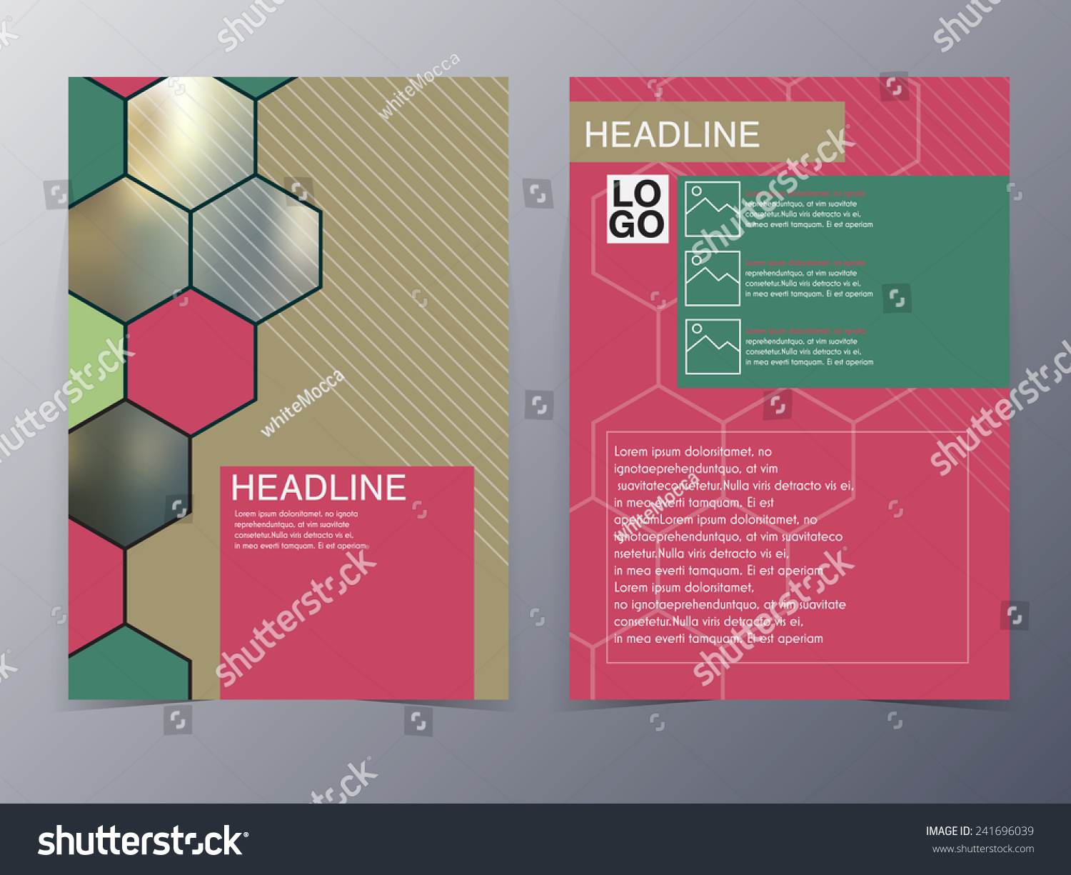 pink geometry design element flyer template vector illustration save to a lightbox