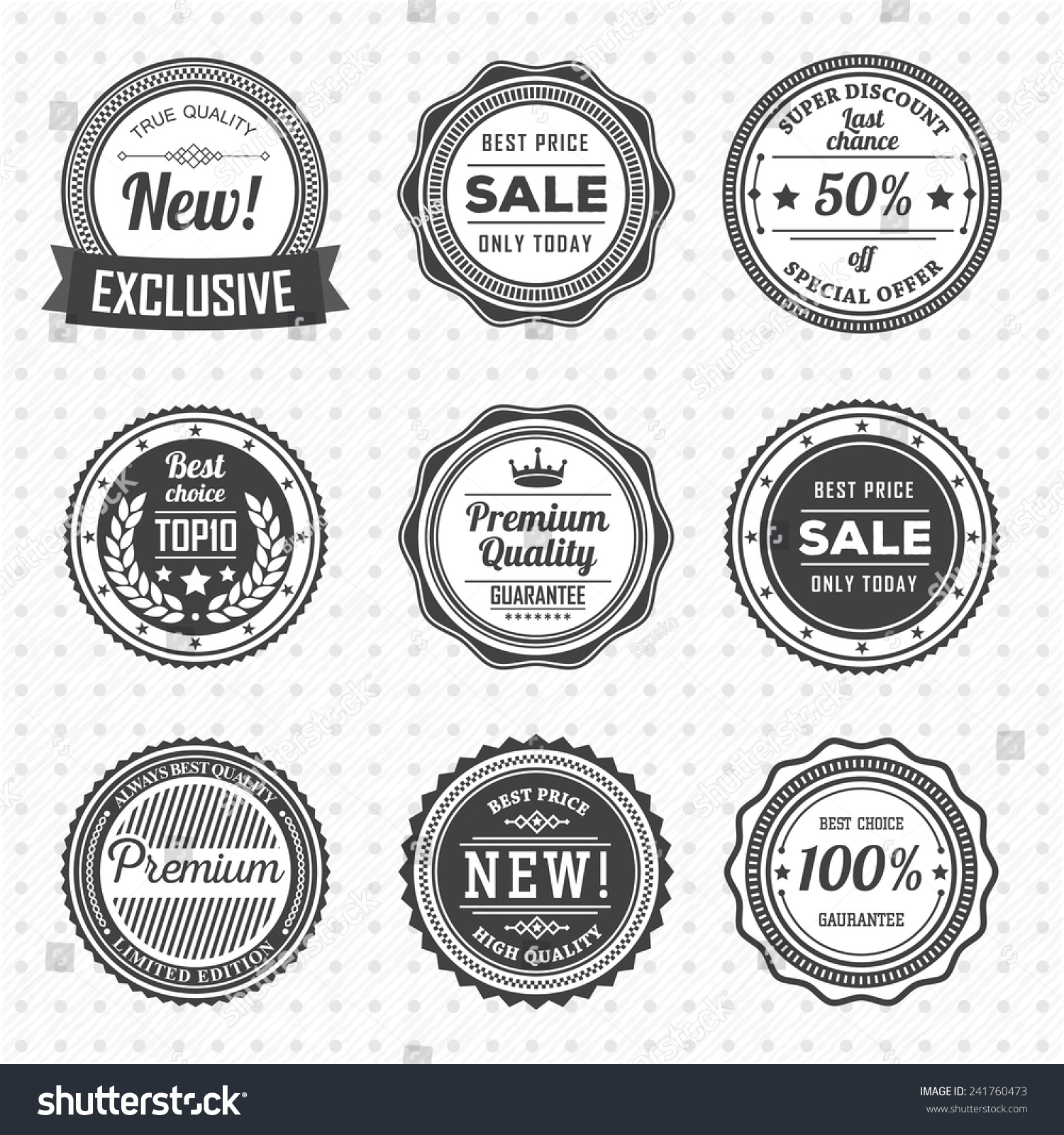 Vintage Labels Template Set Vector Design Stock Vector Royalty Free