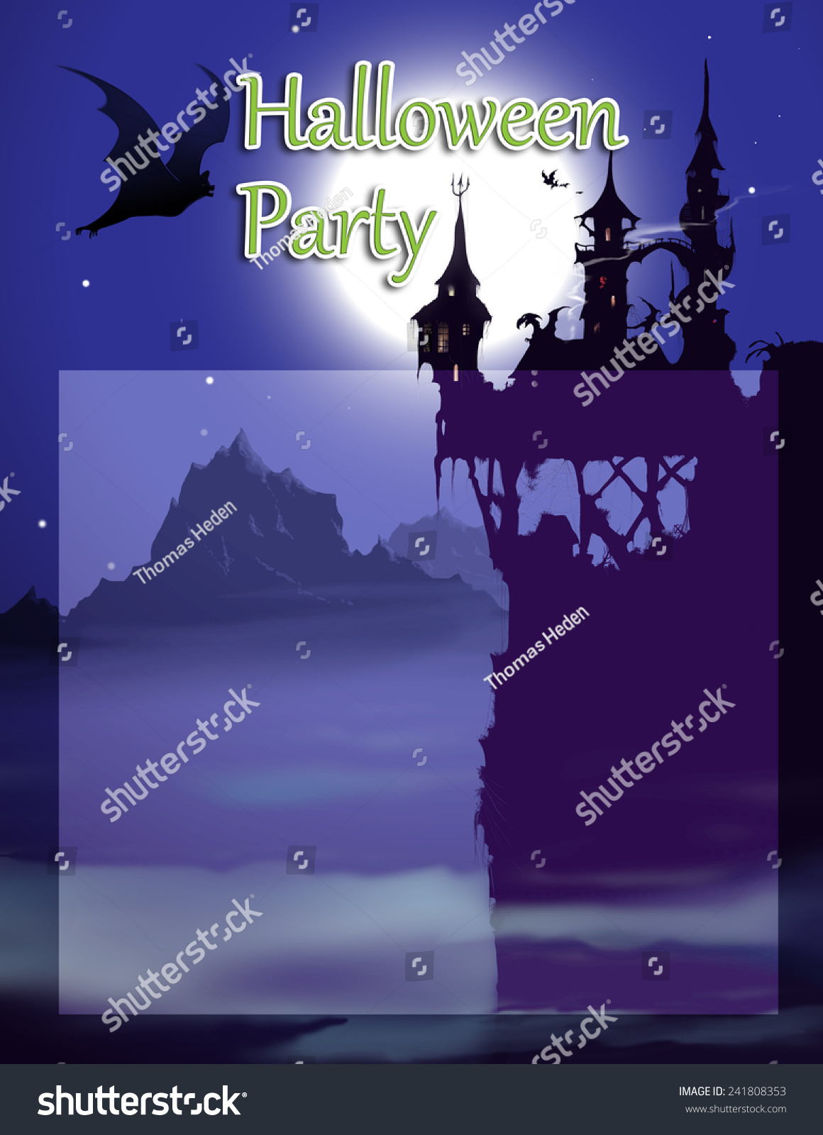 Halloween Party Invitation Background Add Your Illustration – Party Invitation Background