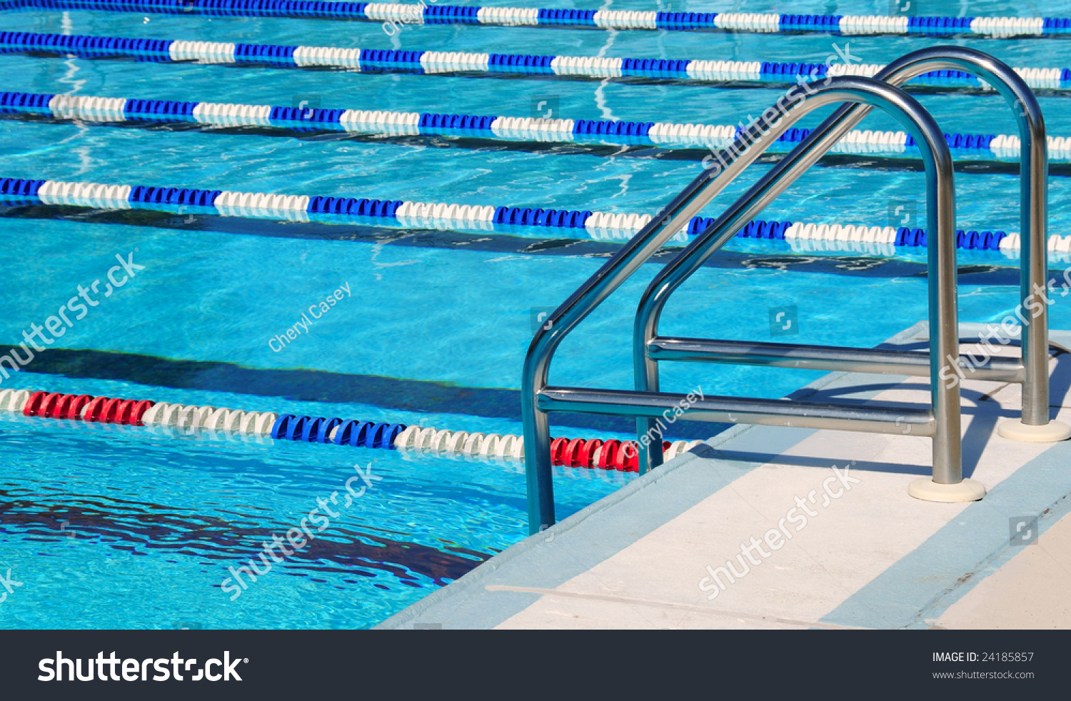 Community Swimming Pool With Racing Lanes Stock Photo 24185857 Shutterstock