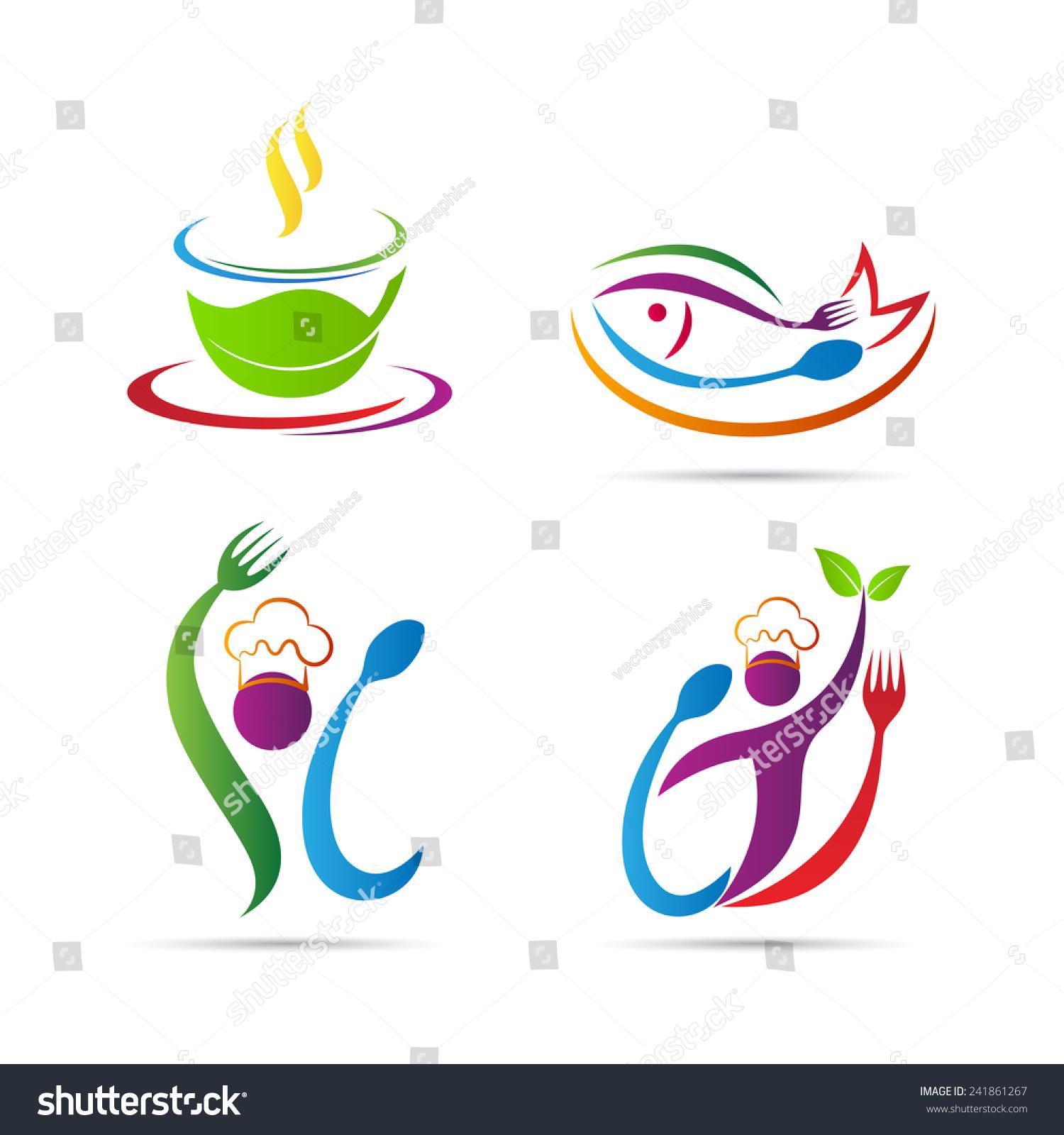Restaurant logo vector design isolated on stock