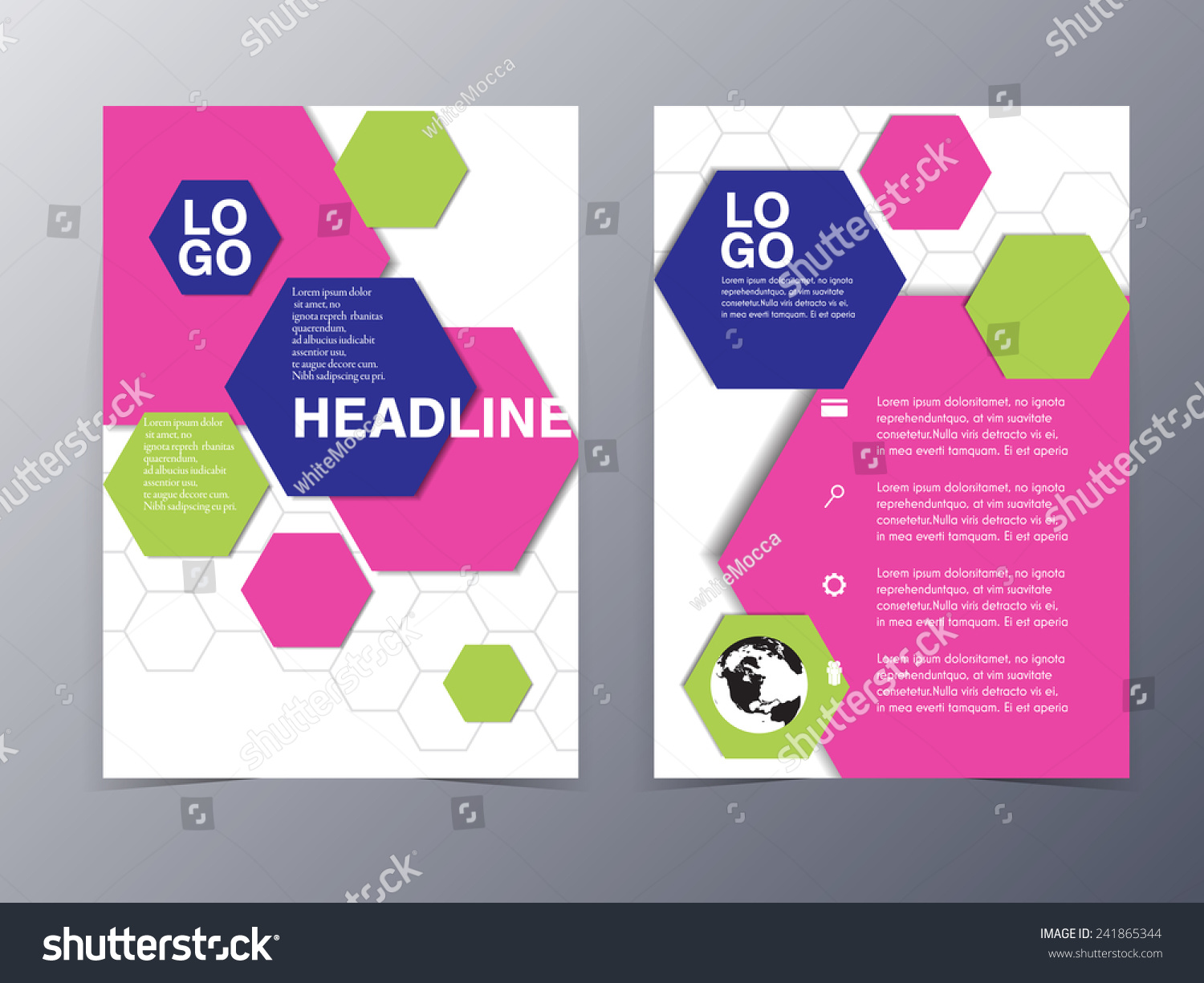 colorful graphic design element flyer template vector illustration save to a lightbox