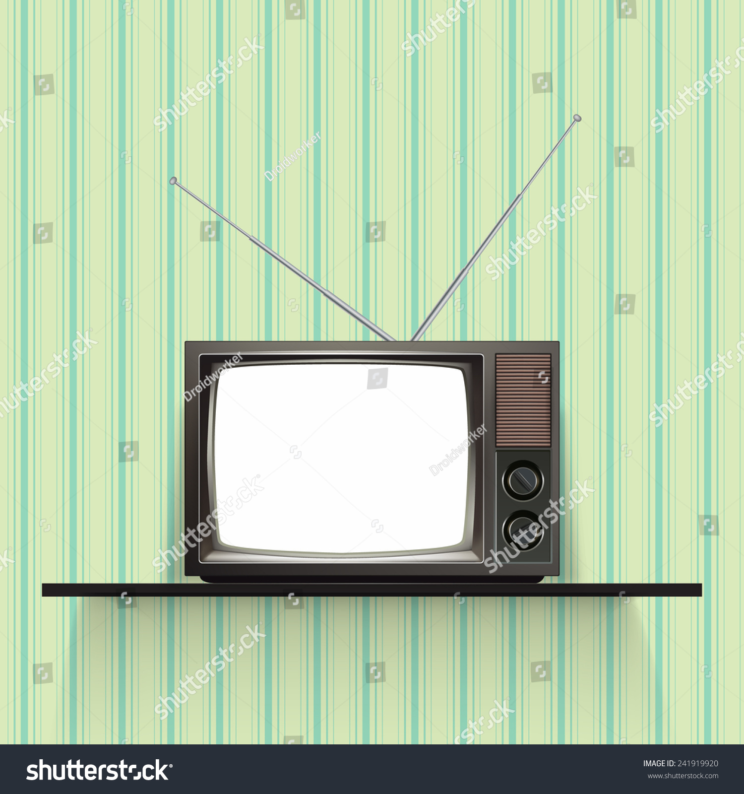 Vintage Television Wallpaper Blank retro tv with vintage wallpaper ...