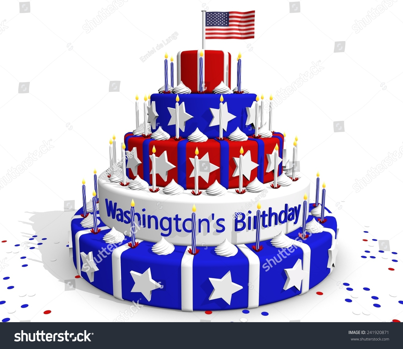 Cake Colors American Flag Red White Stock Illustration 241920871