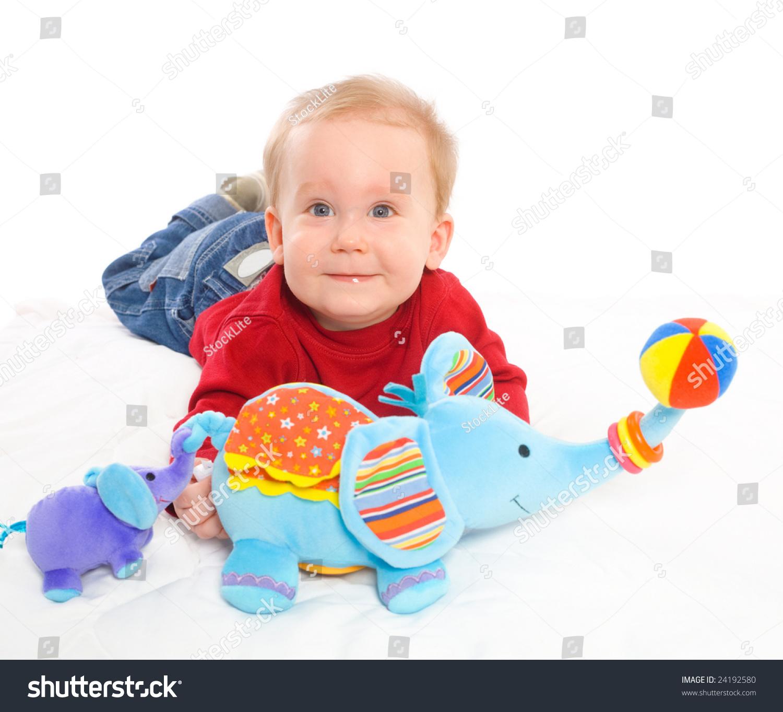 Heureux petit garçon de 6 mois Stock Shutterstock