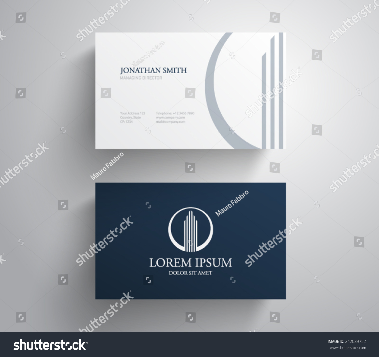 business card template real estate apartment stock vector