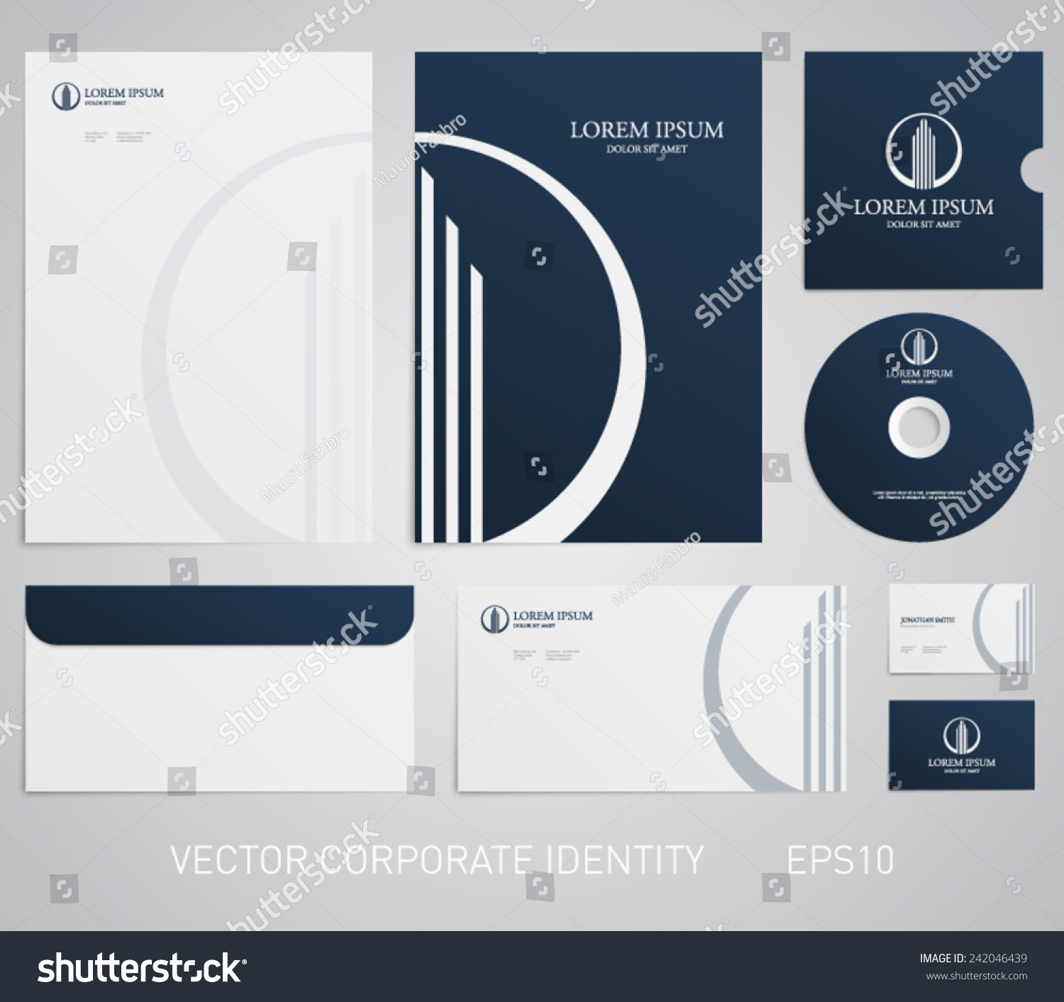 Clean Corporate Letterhead Template: Stationery Template Real Estate Logo Apartment Stock