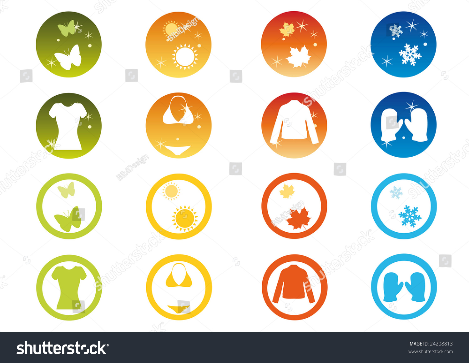 Clothing symbols winter autumn spring summer stock vector 24208813 clothing and symbols of winter autumn spring and summer biocorpaavc