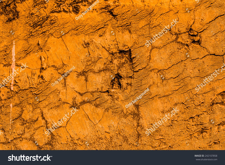 Orange Cement Wall : Old concrete wall orange background stock photo