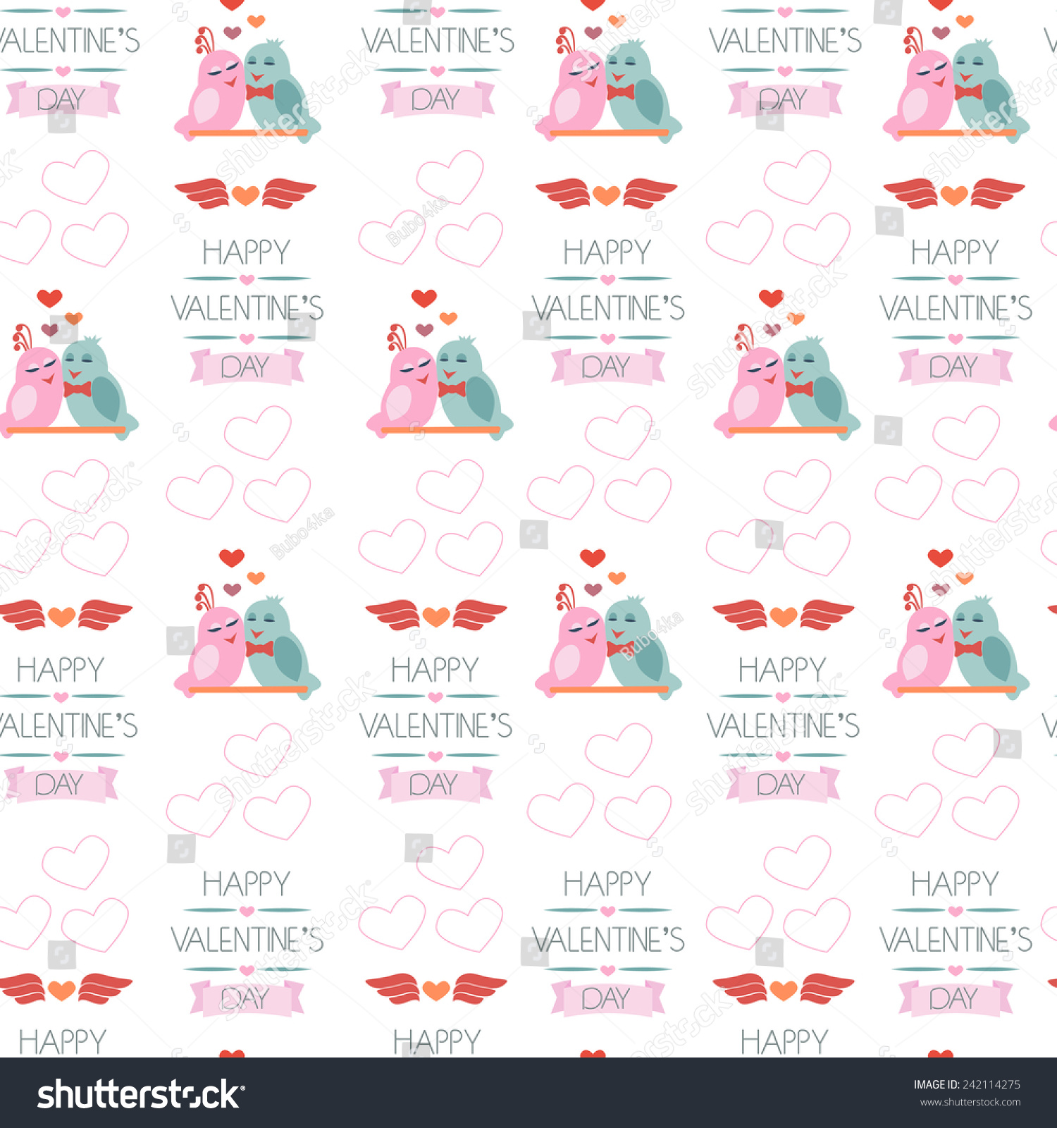 seamless background for valentines day wrapping paper color vector illustration - Valentines Day Wrapping Paper