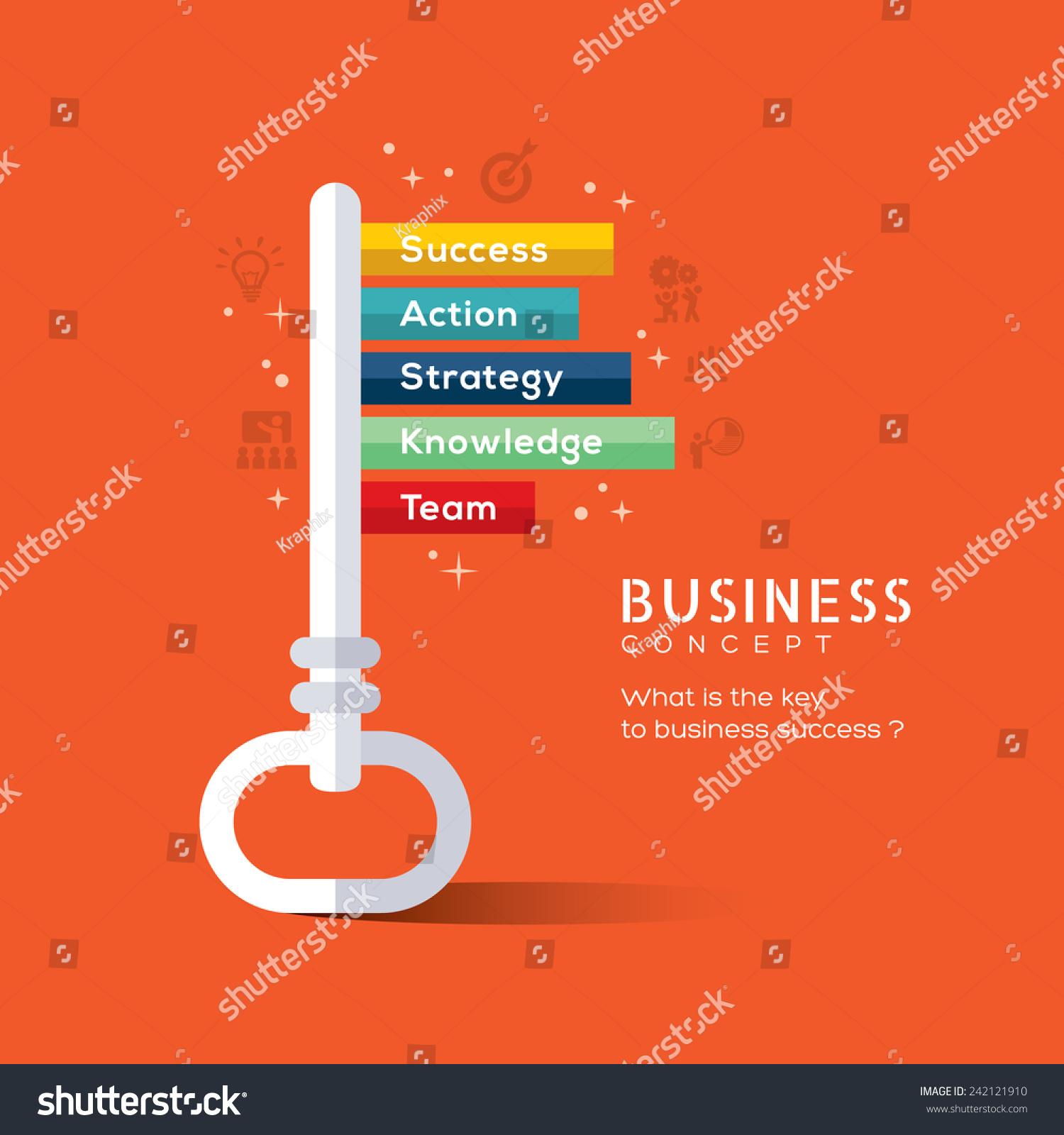 key success flat design concept vector stock vector 242121910 key to success flat design concept vector illustration