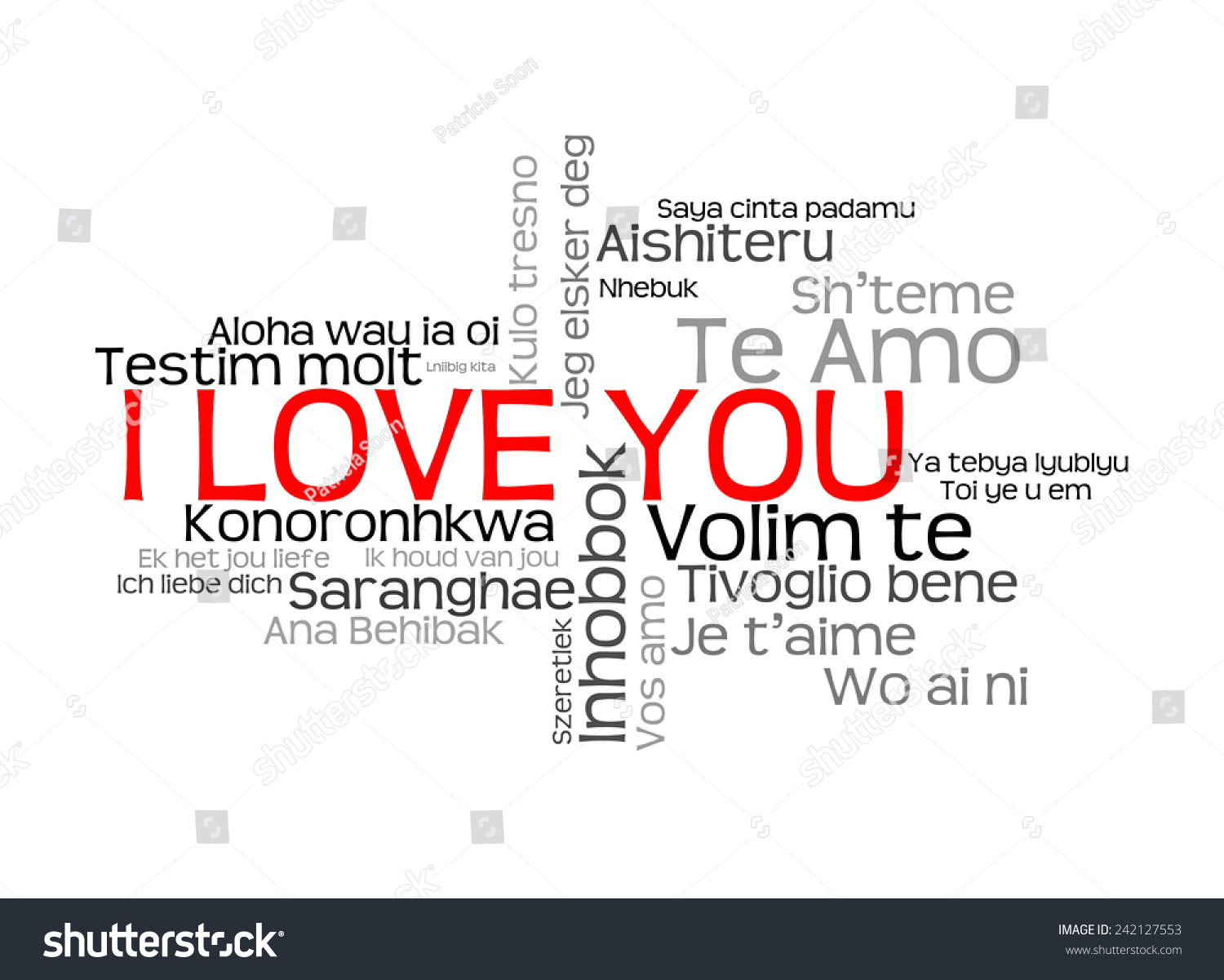 Love words i love you different stock illustration 242127553 love words i love you in different languages of the world words cloud thecheapjerseys